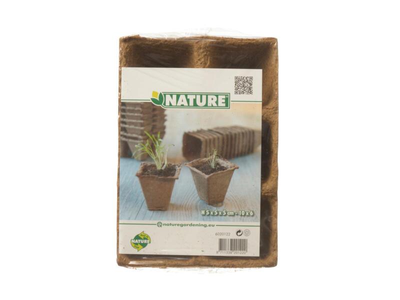 Nature pot en tourbe 5x5 cm 6x12 pièces