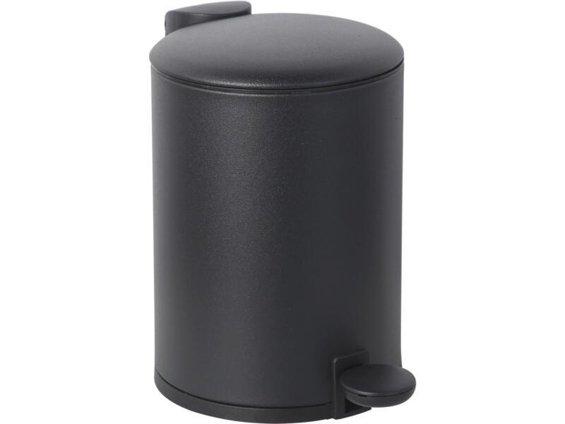 Practo Home poubelle à pédale 3l noir