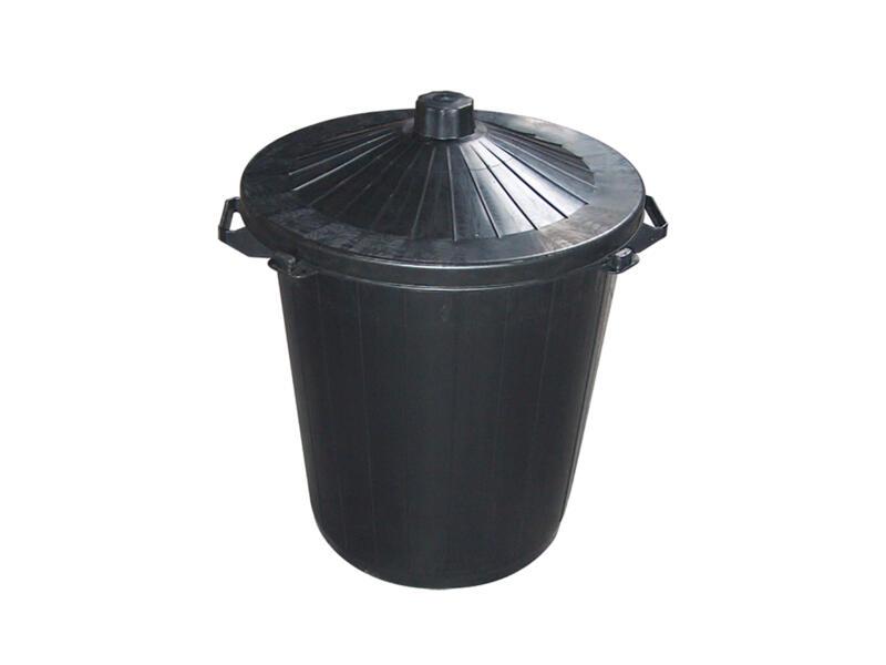 Casibel poubelle de rue 80L noir