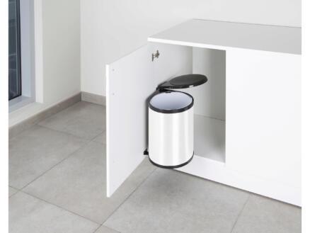 Casibel poubelle encastrable 14l blanc