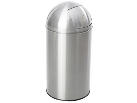 Casibel poubelle rétro 50l inox mat