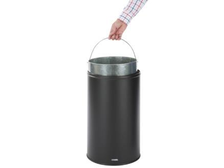 Casibel poubelle rétro 50l noir