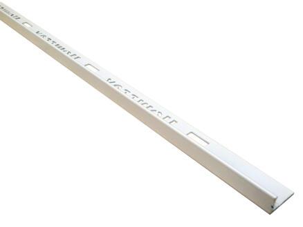 Homelux profil de carrelage droit 11mm 270cm aluminium blanc