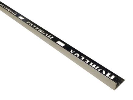 Homelux profil de carrelage droit 8mm 270cm aluminium chrome