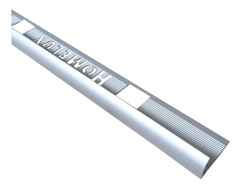 Homelux profil de carrelage rond 8mm 120cm aluminium mat argenté