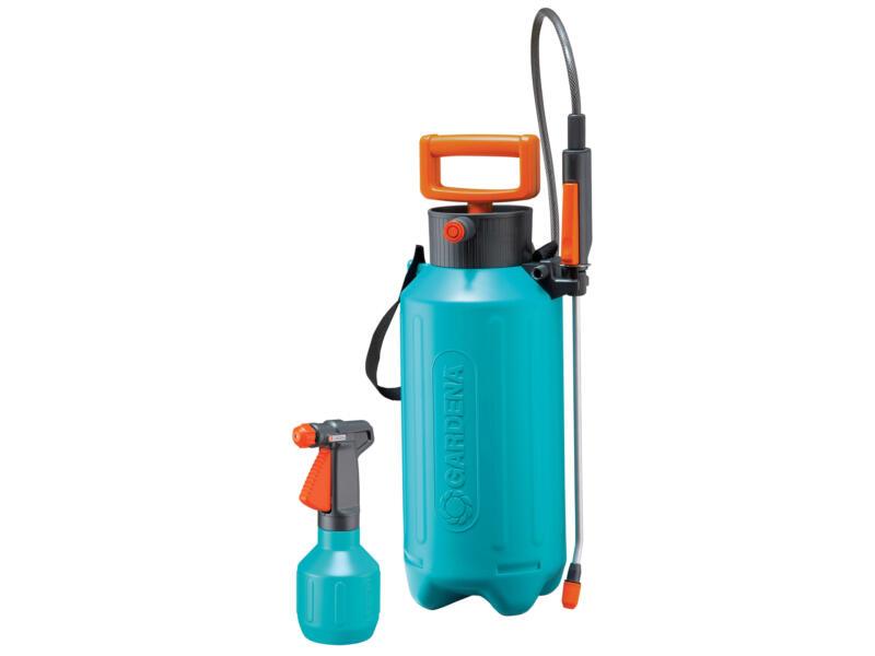 Gardena pulvérisateur à pression 5l + 0,5l bleu