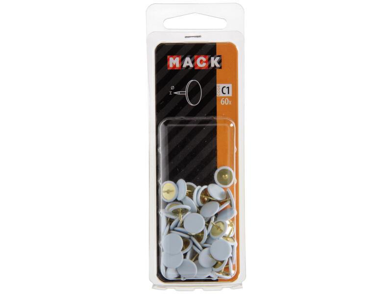 Mack punaises blanc 60 pièces