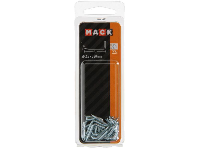 Mack puntduimen 2,5x20 mm 22 stuks