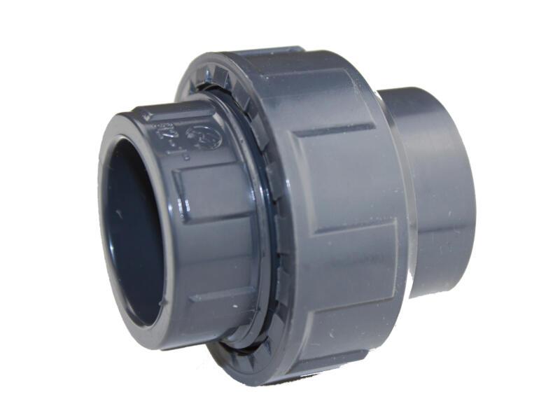Scala raccord 3 pièces 50mm PVC avec joint torique