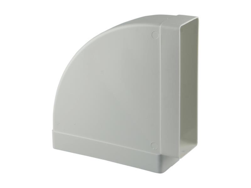 Renson raccord cornière 90° horizontal type 7016 204x60 mm blanc