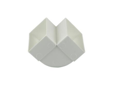 Renson raccord cornière 90° vertical type 7015 110x55 mm blanc