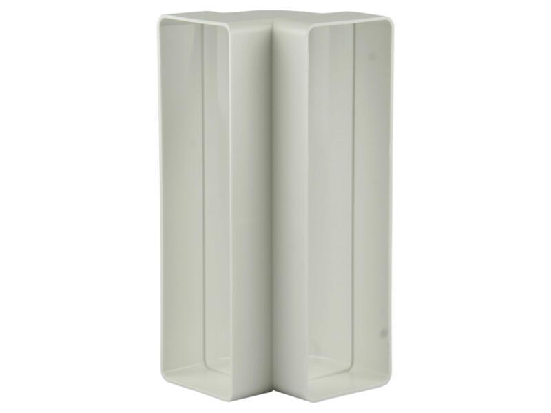 Renson raccord cornière 90° vertical type 7015 204x60 mm blanc