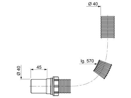 Wirquin raccord souple 40mm 6/4