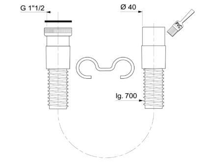 Wirquin raccord spiralé 40mm 6/4