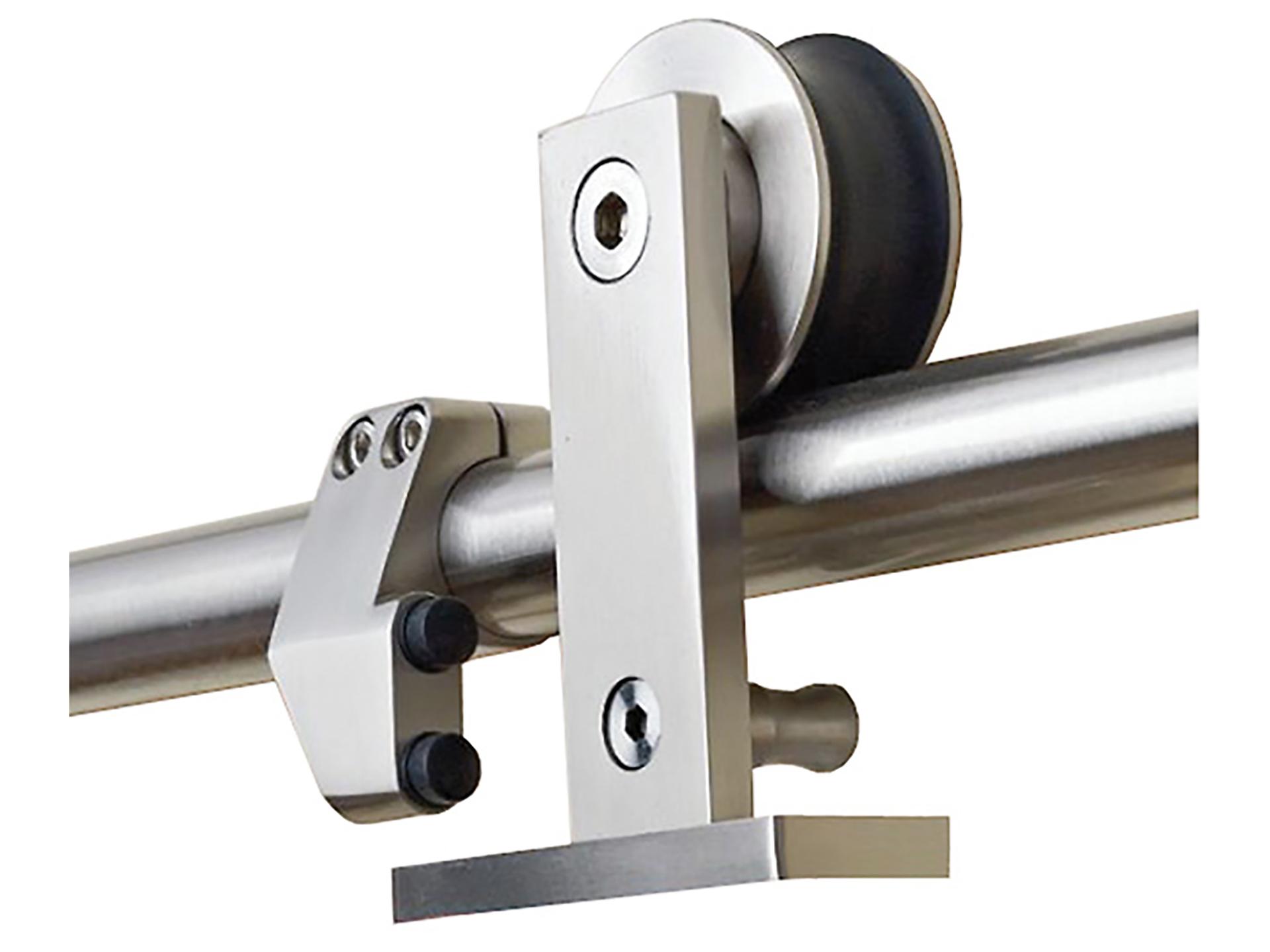 Barre Pour Porte Coulissante solid rail porte coulissante 200cm inox