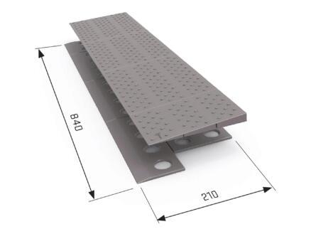 Secucare rampe de seuil modulaire 1 niveau 84x21 cm gris