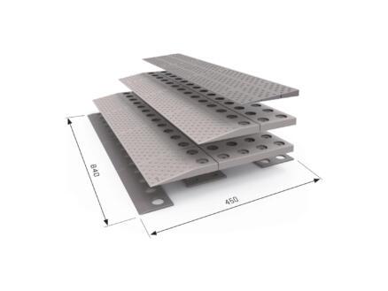 Secucare rampe de seuil modulaire 3 niveaux 84x45 cm gris