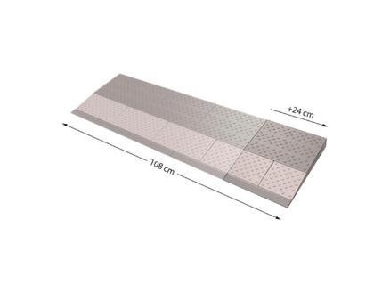 Secucare rampe de seuil modulaire extension 2 108x33 cm gris