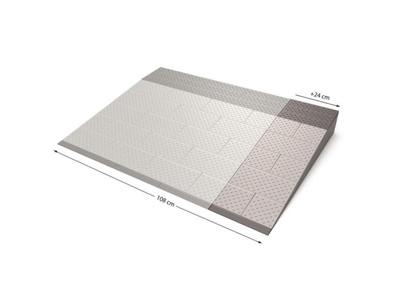 Secucare rampe de seuil modulaire extension 6 108x81 cm gris