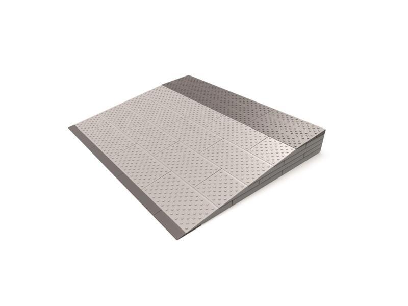 Secucare rampe de seuil modulaire type 5 84x69 cm gris