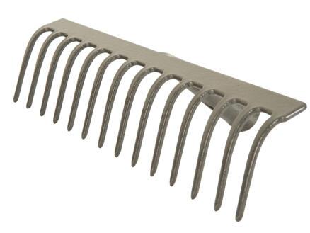 Polet râteau de jardin 34cm 14 dents sans manche
