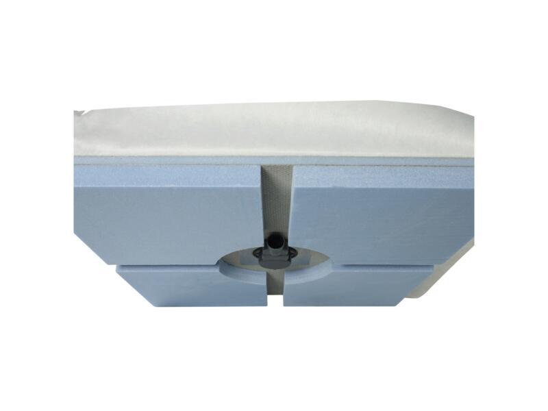 Marmox receveur de douche à carreler 90x90 cm drainage central