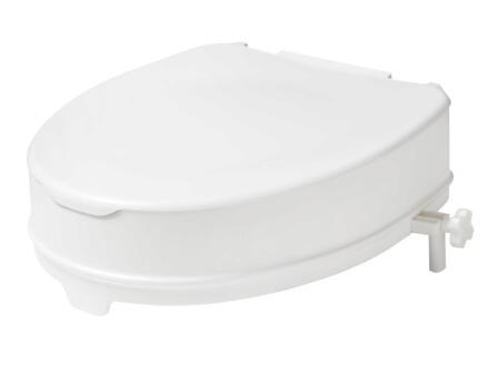 Secucare rehausseur WC avec couvercle 100mm blanc