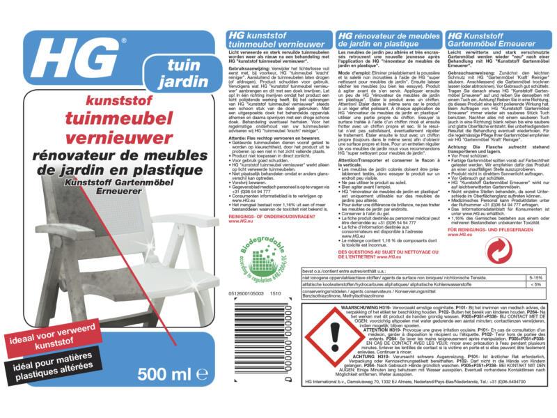 HG rénovateur meubles de jardin en matière synthétique 500ml