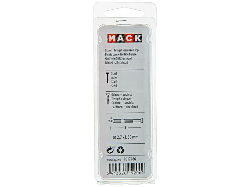 Mack ribnagels met platte kop 2,7x30 mm 20 stuks