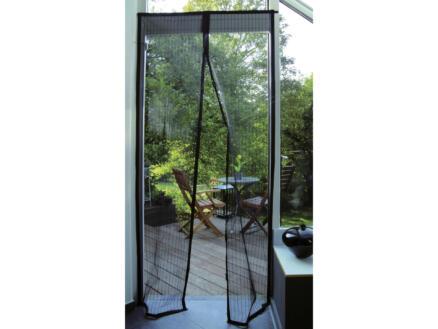 Confortex rideau moustiquaire à fermeture aimantée 100x215 cm noir