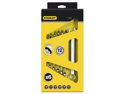 Stanley ringsteeksleutelset 10-17 mm 6 stuks