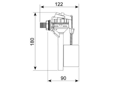 Wirquin robinet flotteur compact alimentation latérale