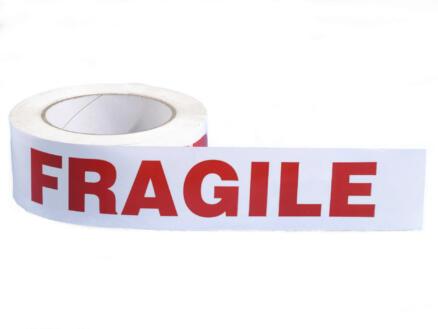 Mottez rouleau adhésif fragile 66m 50mm