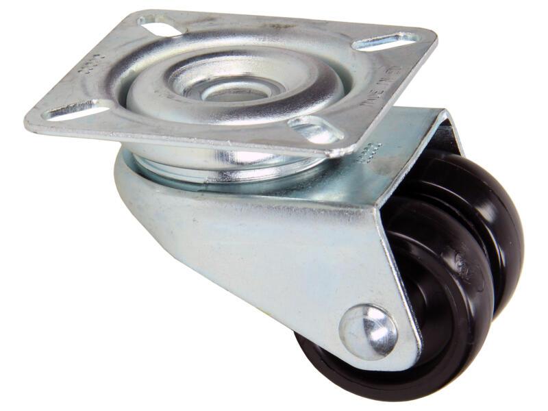 Tente roulette pivotante 36mm platine