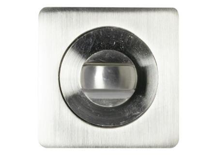 Solid rozet + slotplaat 52mm aluminium