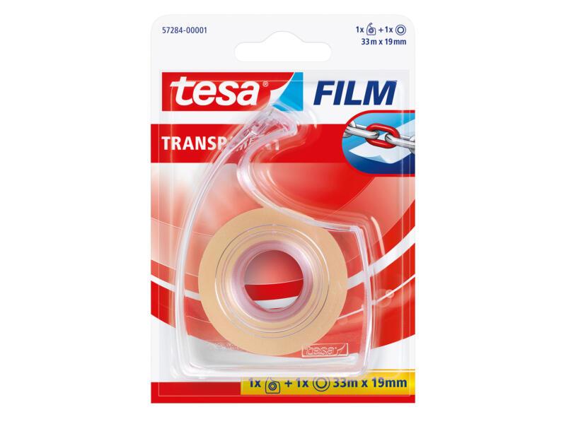 Tesa ruban adhésif avec dérouleur 33m x 19mm transparent