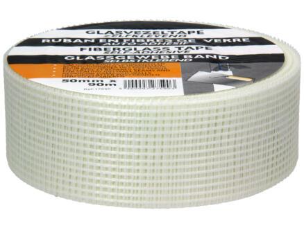ruban adhésif en fibre de verre 90m x 50mm blanc