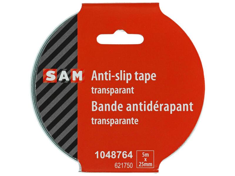 Sam ruban antidérapant 5m x 25mm transparent