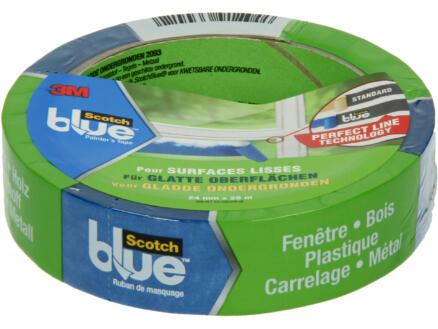 Scotch Blue ruban de masquage surfaces lisses 25m x 24mm bleu