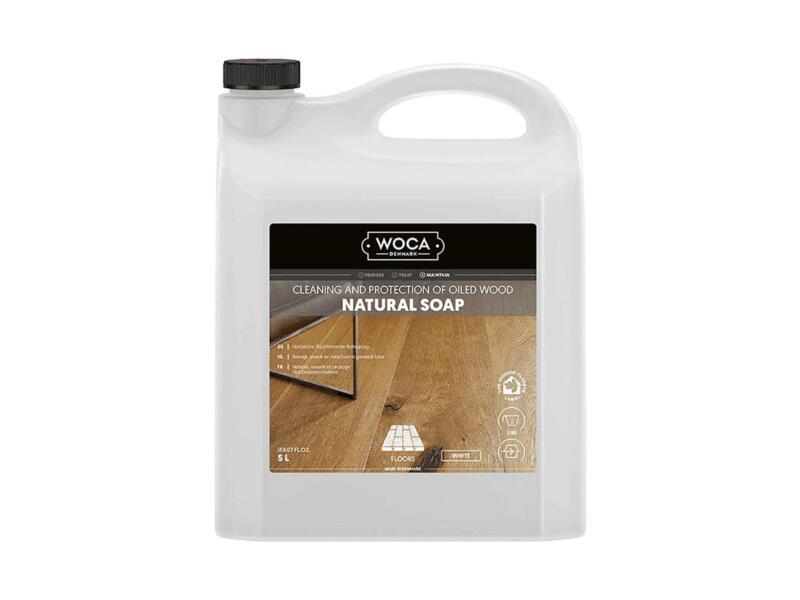 Woca savon naturel entretien parquet 5l blanc