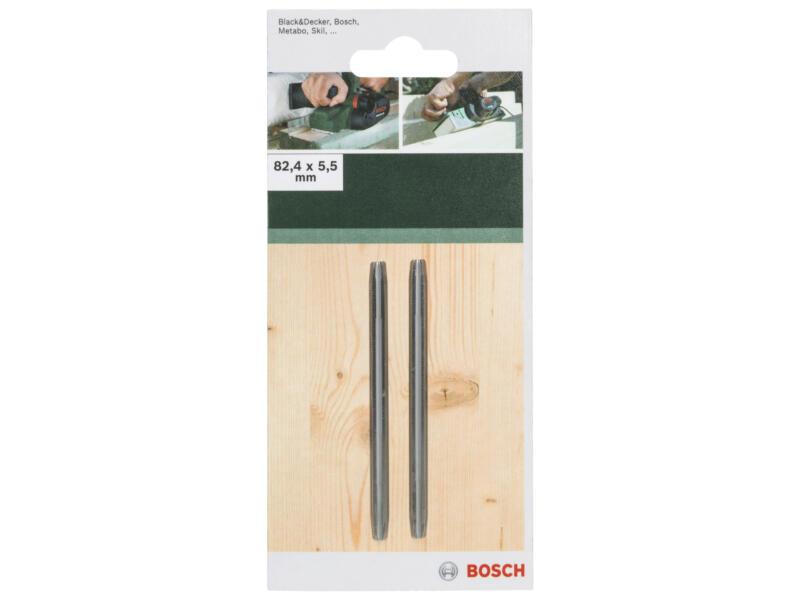 Bosch schaafmes 82,4x5,5 mm 2 stuks