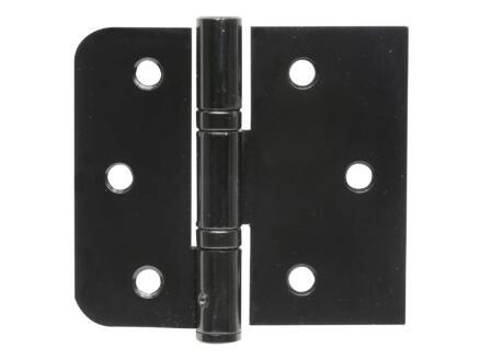 Solid scharnier zwart 3 stuks