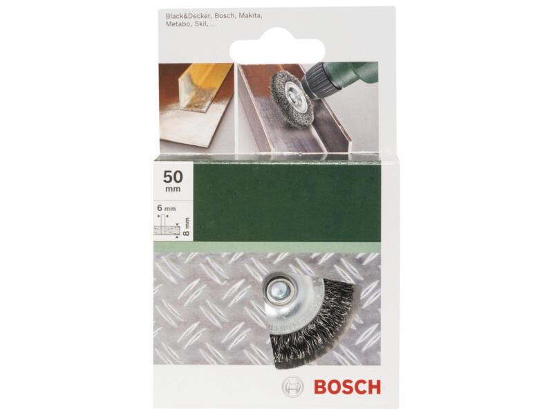 Bosch schijfborstel gegolfde draad 50mm 6mm staal