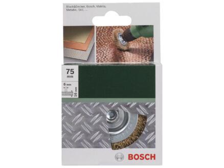 Bosch schijfborstel gegolfde draad 75mm 6mm messing