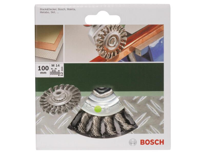Bosch schijfborstel gevlochten draad 100mm M14 inox