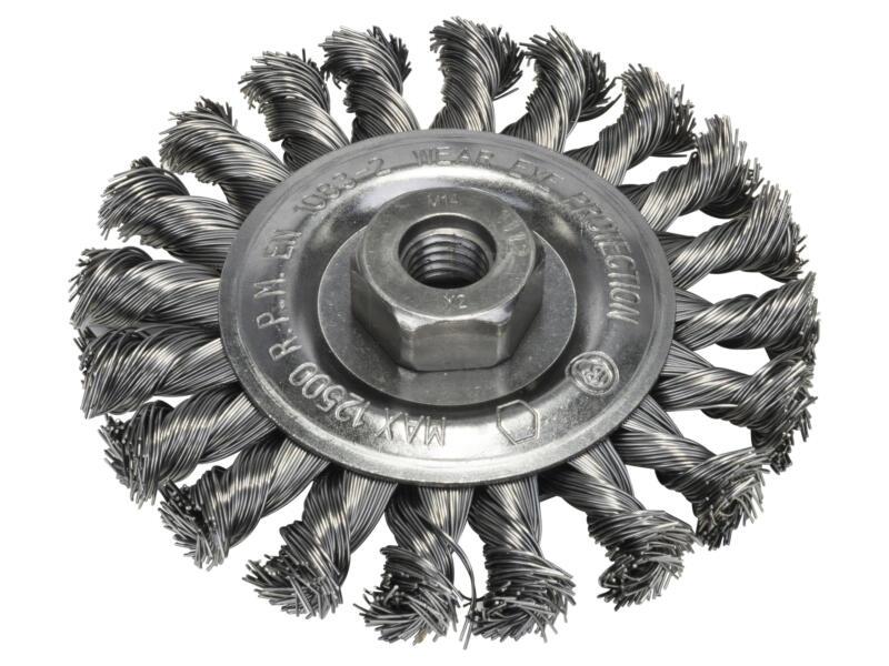 Bosch schijfborstel gevlochten draad 115mm M14 staal