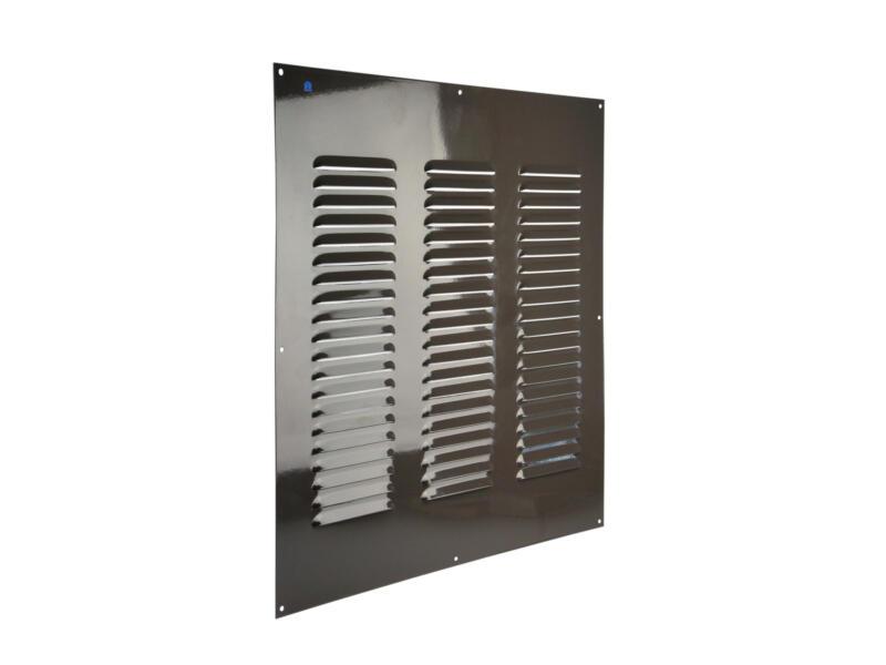 Renson schoepenrooster 500x500 mm aluminium grijs-bruin