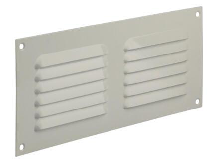 Renson schoepenrooster met kader 250x100 mm aluminium wit