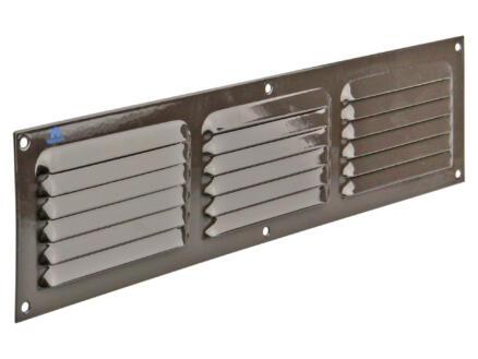 Renson schoepenrooster met kader 400x100 mm aluminium bruin