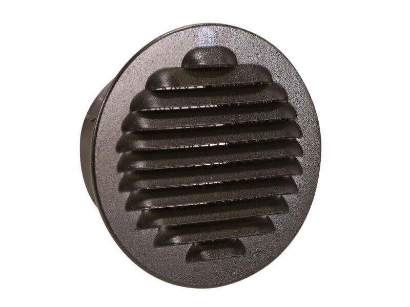 Renson schoepenrooster rond 80mm aluminium zwart